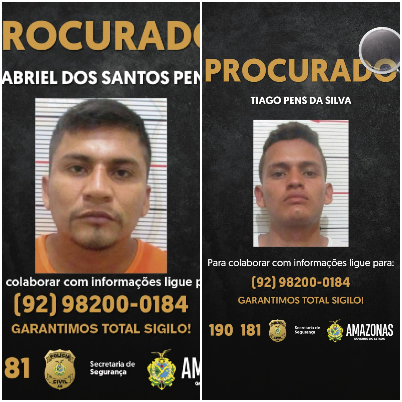 PC-AM solicita colaboração para localizar dupla envolvida em roubo no município de Coari