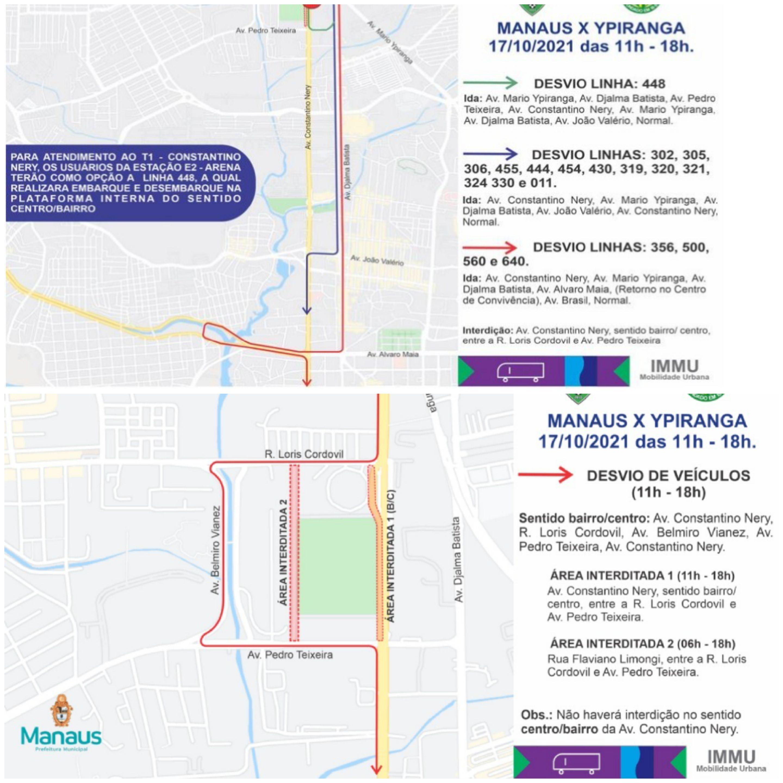 Prefeitura realiza operação para o jogo entre Manaus X Ypiranga neste domingo, 17/10
